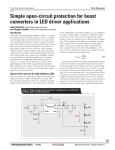 Simple open-circuit protection for boost converters in LED driver