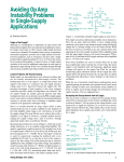 Avoiding Op Amp Instability Problems In Single-Supply Applications