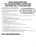 SAVE THESE INSTRUCTIONS! - Compass Lighting Products
