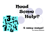 Need Some Help? 4 easy ways!