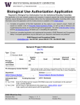 Biological Use Authorization Application