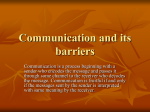Communication and its barriers