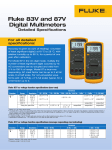 Fluke 83V and 87V Digital Multimeters