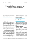 Prudential Supervision and the Changing Financial System