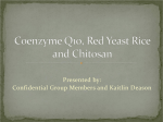 Food and Drug Interactions for CoEnzyme Q10, Red Yeast Rice