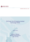 Oil Prices and Emerging Market Exchange Rates