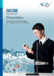 GCSE Chemistry Specification Specification for exams from 2014 2014