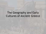 The Geography and Early Cultures of Ancient Greece