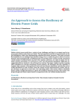 An Approach to Assess the Resiliency of Electric Power Grids