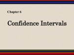 Chapter 6: Confidence Intervals