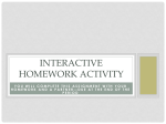 Interactive homework activity