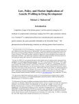 Law, Policy, and Market Implications of Genetic Profiling in Drug Development