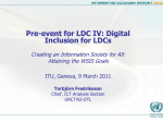 Pre-event for LDC IV: Digital Inclusion for LDCs Attaining the WSIS Goals