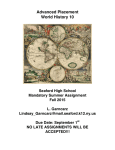 AP World History - Seaford Schools