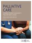Palliative Care: CMA's National Call to Action