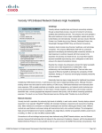 Veroxity VPLS-Based Network Delivers High Availability Challenge EXECUTIVE SUMMARY