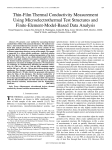 Thin-Film Thermal Conductivity Measurement Using Microelectrothermal Test Structures and Finite-Element-Model-Based Data Analysis