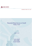 Required Reserves as a Credit Policy Tool