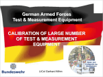 Test- and Measurement Equipment / Calibration Technical Center