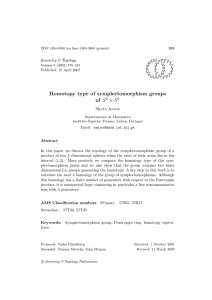 Homotopy type of symplectomorphism groups of × S Geometry & Topology