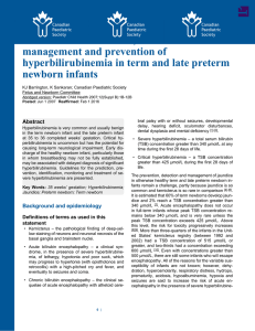 Guidelines for detection, management and prevention of