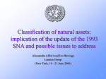 Classification of natural assets: implication of the update of the 1993