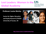 Lost Leaders: Women in the Global Academy [PPTX 1.70MB]