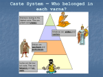Caste System – Who belonged in each varna?