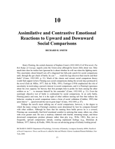 Assimilative and Contrastive Emotional Reactions to Upward and