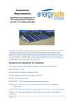 ESV Installation requirements Solar PV Grid connect