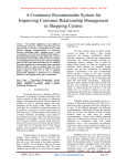 A Commerce Recommender System for Improving Customer Relationship Management in Shopping Centres
