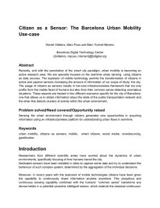 Citizen as a Sensor: The Barcelona Urban Mobility Use