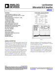 Low Distortion Differential RF/IF Amplifier AD8351 Data Sheet