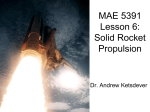 Lesson 9: Solid Rocket Propulsion Basics