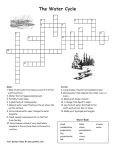 Water cycle crossword