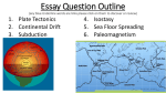 Essay Question Outline