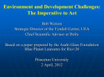 Environment and Development Challenges: The Imperative to Act
