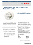 F220‑B6RS 24 VDC Four‑wire Detector Base with
