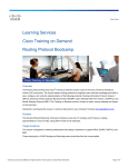 Learning Services Cisco Training on Demand Routing Protocol Bootcamp Overview