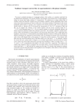 Nonlinear transport current flow in superconductors with planar obstacles