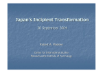 Japan's Incipient Transformation 30 September 2004 Robert A. Madsen Center for International Studies