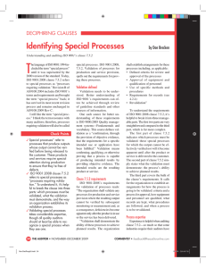 T Identifying Special Processes by Don Brecken