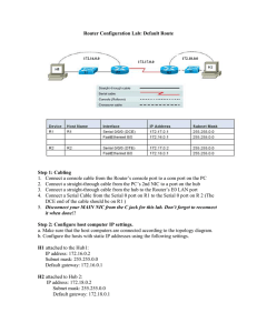 3 Router Configuration - Cisco Networking Academy