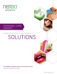 PERSONAL CARE - Nexeo Solutions