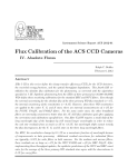 Flux Calibration of the ACS CCD Cameras SPACE TELESCOPE SCIENCE