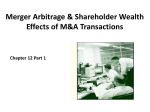 Merger Arbitrage & Shareholder Wealth Effects of M&A
