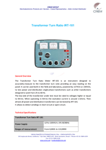 Transformer Turn Ratio IRT-101