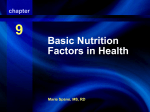 9 Basic Nutrition Factors in Health Nutritional Factors in Health and
