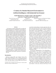 Creation of a Student Research Environment in
