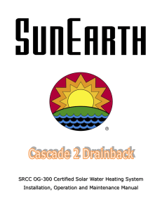 SRCC OG-300 Certified Solar Water Heating System Installation